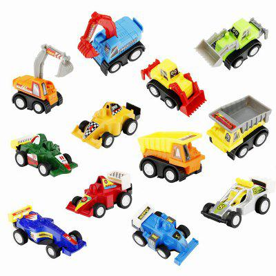 Mini Construction Pull-back Vehicle and Racing Car 12pcs for ChildrenClassic Toys<br>Mini Construction Pull-back Vehicle and Racing Car 12pcs for Children<br><br>Package Contents: 12 x Toy Car<br>Package size (L x W x H): 23.00 x 17.00 x 5.00 cm / 9.06 x 6.69 x 1.97 inches<br>Package weight: 0.2000 kg<br>Product size (L x W x H): 21.50 x 16.00 x 3.50 cm / 8.46 x 6.3 x 1.38 inches<br>Product weight: 0.1500 kg