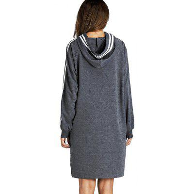 Long Raglan Sleeves Striped Loose HoodieSweatshirts &amp; Hoodies<br>Long Raglan Sleeves Striped Loose Hoodie<br><br>Clothes Type: Hoodie<br>Material: Cotton, Polyester<br>Occasion: Daily Use, Casual<br>Package Contents: 1 x Hoodie<br>Package size: 36.00 x 28.00 x 2.50 cm / 14.17 x 11.02 x 0.98 inches<br>Package weight: 0.4200 kg<br>Pattern: Stripe<br>Product weight: 0.4000 kg<br>Style: Casual