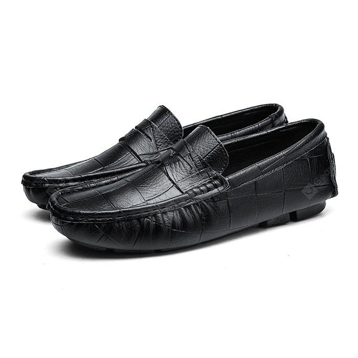 Male British Block Soft Light Casual Loafer Leather Shoes