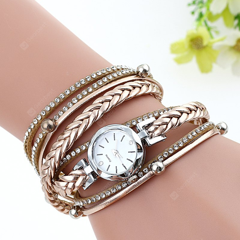 Colorful Women PU Strap Wrist Quartz Watch
