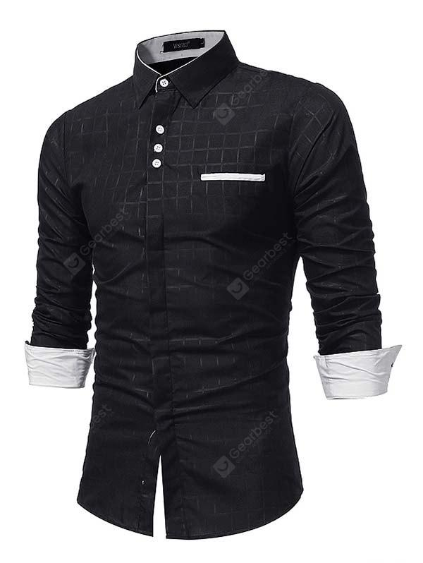WSGYJ Masculino Trendy Simple Shirt