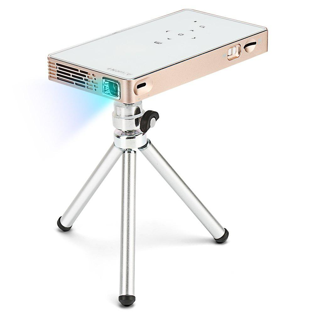 P8S DLP Portable Smart Mini LED WiFi Projector