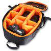 Outdoor Travel Camera Backpack - BLACK AND ORANGE