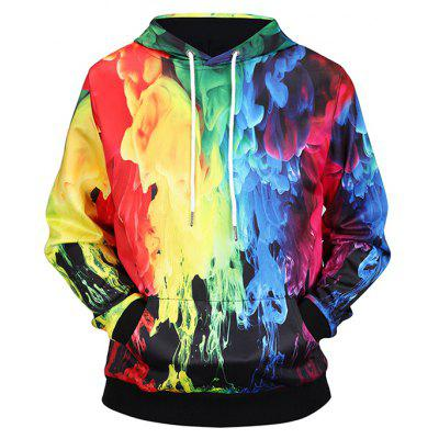 Fashion Colorful 3D Printing Hoodie Sweatshirt