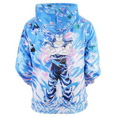 Casual Cartoon 3D Printing Hoodie SweatshirtMens Hoodies &amp; Sweatshirts<br>Casual Cartoon 3D Printing Hoodie Sweatshirt<br><br>Clothes Type: Hoodie<br>Material: Polyester, Spandex<br>Occasion: Casual<br>Package Contents: 1 x Sweatshirt<br>Package size: 38.00 x 30.00 x 2.00 cm / 14.96 x 11.81 x 0.79 inches<br>Package weight: 0.4800 kg<br>Product weight: 0.4500 kg<br>Style: Casual<br>Thickness: Regular