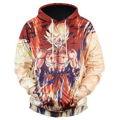 Casual Cartoon Printing Plus Size Hoodie Sweatshirt
