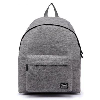 Buy GRAY Kaukko Men Stylish Solid Color Laptop Backpack for $22.08 in GearBest store