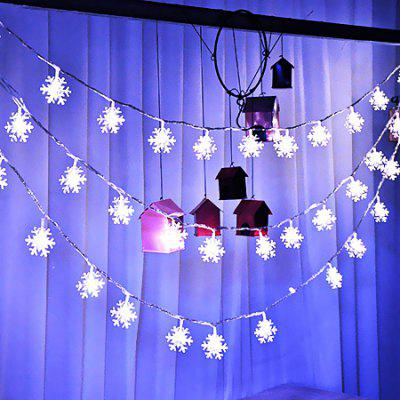 Fashion Snowflake Strip Lights for Home DecorationLED Strips<br>Fashion Snowflake Strip Lights for Home Decoration<br><br>Beam Angle: 360 degree<br>Color Temperature or Wavelength: 6000 - 6500k<br>Features: Festival Lighting<br>LED Quantity: 40<br>Length ( m ): 6<br>Light Source: Energy Saving,LED,LED Light<br>Package Content: 1 x LED Strip Light<br>Package size (L x W x H): 15.00 x 15.00 x 5.00 cm / 5.91 x 5.91 x 1.97 inches<br>Package weight: 1.0050 kg<br>Power Supply: Battery<br>Product size (L x W x H): 600.00 x 4.00 x 0.80 cm / 236.22 x 1.57 x 0.31 inches<br>Product weight: 1.0000 kg<br>Type: String Lights<br>Voltage: 3V<br>Wattage (W): 2