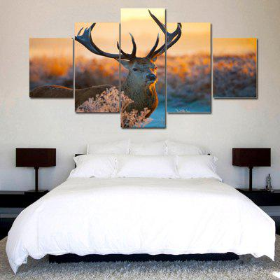 Jingsheng 90697 5 Panels Deer Picture Canvas Art PrintPrints<br>Jingsheng 90697 5 Panels Deer Picture Canvas Art Print<br><br>Brand: Jingsheng<br>Craft: Print<br>Form: Five Panels<br>Material: Canvas<br>Package Contents: 5 x Panel of Painting<br>Package size (L x W x H): 34.00 x 6.00 x 6.00 cm / 13.39 x 2.36 x 2.36 inches<br>Package weight: 0.2100 kg<br>Painting: Without Inner Frame<br>Product weight: 0.1800 kg<br>Shape: Horizontal Panoramic<br>Style: Beautiful, Artistic<br>Subjects: Animal<br>Suitable Space: Bedroom,Cafes,Dining Room,Hallway,Hotel,Living Room,Office