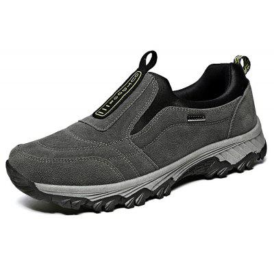 Male Soft Outdoor Anti Slip Athletic Shoes for ElderlyAthletic Shoes<br>Male Soft Outdoor Anti Slip Athletic Shoes for Elderly<br><br>Closure Type: Slip-On<br>Contents: 1 x Pair of Shoes, 1 x Box, 1 x Dustproof Paper<br>Function: Slip Resistant<br>Materials: Suede, Rubber<br>Occasion: Sports, Shopping, Riding, Outdoor Clothing, Running, Casual, Daily, Holiday<br>Outsole Material: Rubber<br>Package Size ( L x W x H ): 33.00 x 22.00 x 11.00 cm / 12.99 x 8.66 x 4.33 inches<br>Package Weights: 0.95kg<br>Pattern Type: Solid<br>Seasons: Autumn,Spring<br>Style: Modern, Leisure, Fashion, Comfortable, Casual<br>Toe Shape: Round Toe<br>Type: Hiking Shoes<br>Upper Material: Suede