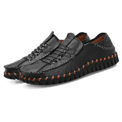 Male Retro Unique Handmade Stitching Casual Oxford Shoes