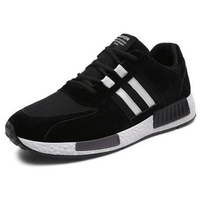 Male Fresh Soft Thicken Casual Chic SneakersMen's Sneakers<br>Male Fresh Soft Thicken Casual Chic Sneakers<br><br>Closure Type: Lace-Up<br>Contents: 1 x Pair of Shoes, 1 x Box, 1 x Dustproof Paper<br>Decoration: Split Joint<br>Function: Slip Resistant<br>Materials: Suede, Rubber<br>Occasion: Sports, Shopping, Riding, Outdoor Clothing, Running, Casual, Daily, Holiday<br>Outsole Material: Rubber<br>Package Size ( L x W x H ): 33.00 x 22.00 x 11.00 cm / 12.99 x 8.66 x 4.33 inches<br>Package Weights: 0.80kg<br>Pattern Type: Stripe, Solid<br>Seasons: Autumn,Spring,Winter<br>Style: Modern, Leisure, Fashion, Comfortable, Casual<br>Toe Shape: Round Toe<br>Type: Sports Shoes<br>Upper Material: Suede