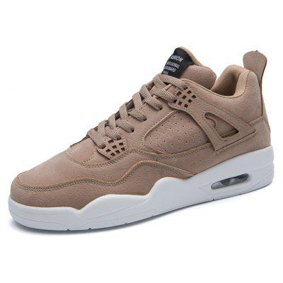 Male Ultralight Soft Heighten Air Cushion Casual Athletic ShoesAthletic Shoes<br>Male Ultralight Soft Heighten Air Cushion Casual Athletic Shoes<br><br>Closure Type: Lace-Up<br>Contents: 1 x Pair of Shoes, 1 x Box, 1 x Dustproof Paper<br>Function: Slip Resistant<br>Materials: Suede, Rubber<br>Occasion: Sports, Shopping, Running, Riding, Outdoor Clothing, Party, Basketball, Casual, Daily, Holiday<br>Outsole Material: Rubber<br>Package Size ( L x W x H ): 33.00 x 22.00 x 11.00 cm / 12.99 x 8.66 x 4.33 inches<br>Package Weights: 0.75kg<br>Pattern Type: Solid<br>Seasons: Autumn,Spring<br>Style: Modern, Leisure, Fashion, Comfortable, Casual<br>Toe Shape: Round Toe<br>Type: Sports Shoes<br>Upper Material: Suede