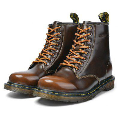 Male Classic Lustrous High Top Casual Martin Boots