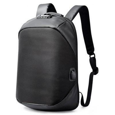 Men Water-resistant Anti-theft Backpack with USB Port