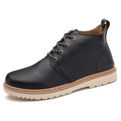Male Stylish Chic Soft Thicken Casual Martin BootsMens Boots<br>Male Stylish Chic Soft Thicken Casual Martin Boots<br><br>Closure Type: Lace-Up<br>Contents: 1 x Pair of Shoes, 1 x Box, 1 x Dustproof Paper<br>Function: Slip Resistant<br>Materials: Rubber, PU<br>Occasion: Tea Party, Shopping, Party, Office, Holiday, Outdoor Clothing, Casual, Daily, Dress<br>Outsole Material: Rubber<br>Package Size ( L x W x H ): 33.00 x 22.00 x 11.00 cm / 12.99 x 8.66 x 4.33 inches<br>Package Weights: 0.85kg<br>Pattern Type: Solid<br>Seasons: Autumn,Spring,Winter<br>Style: Modern, Leisure, Fashion, Comfortable, Casual, Business<br>Toe Shape: Round Toe<br>Type: Boots<br>Upper Material: PU