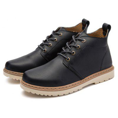 Male Stylish Chic Soft Thicken Casual Martin Boots