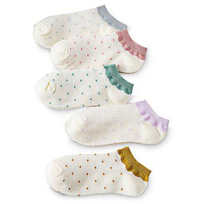5 Paired Mesh Breathable Spot Pattern Ankle Socks for WomenWomens Socks &amp; Hosieries<br>5 Paired Mesh Breathable Spot Pattern Ankle Socks for Women<br><br>Contents: 5 x Pair of Socks<br>Gender: Women<br>Material: Wool, Cony Hair<br>Package size (L x W x H): 16.00 x 4.00 x 3.00 cm / 6.3 x 1.57 x 1.18 inches<br>Package weight: 0.0250 kg<br>Pattern Type: Polka Dot<br>Product weight: 0.0200 kg<br>Style: Casual<br>Type: Socks