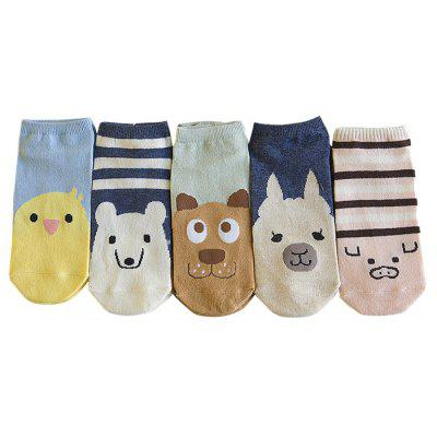 Cute Cartoon Pattern Ankle Socks for Women