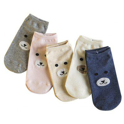 5 Paired Women Cute Cartoon Bear Pattern Breathable Ankle SocksWomens Socks &amp; Hosieries<br>5 Paired Women Cute Cartoon Bear Pattern Breathable Ankle Socks<br><br>Contents: 5 x Pair of Socks<br>Gender: Women<br>Material: Wool, Cony Hair<br>Package size (L x W x H): 16.00 x 4.00 x 3.00 cm / 6.3 x 1.57 x 1.18 inches<br>Package weight: 0.0250 kg<br>Pattern Type: Animal<br>Product weight: 0.0200 kg<br>Style: Casual<br>Type: Socks