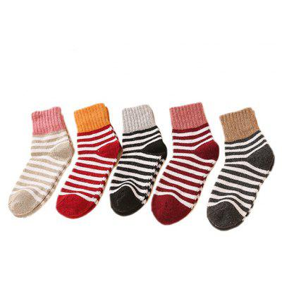 5 Paired Thicken Keep Warm Breathable Female Socks