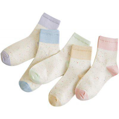 5 Paired Thicken Winter Women Little Dots Wool Socks