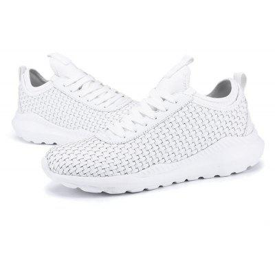 Fashionable Breathable Men Running SneakersAthletic Shoes<br>Fashionable Breathable Men Running Sneakers<br><br>Closure Type: Lace-Up<br>Contents: 1 x Pair of Shoes<br>Function: Slip Resistant<br>Materials: Rubber, PU<br>Occasion: Daily, Running, Sports<br>Outsole Material: Rubber<br>Package Size ( L x W x H ): 31.00 x 20.00 x 13.00 cm / 12.2 x 7.87 x 5.12 inches<br>Product Size  ( L x W x H ): 29.00 x 16.00 x 13.00 cm / 11.42 x 6.3 x 5.12 inches<br>Seasons: Autumn,Spring,Summer<br>Style: Comfortable<br>Type: Sports Shoes<br>Upper Material: PU