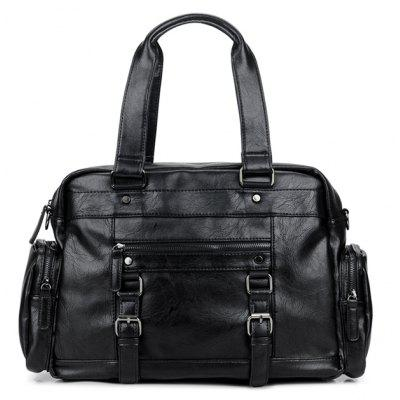 Men PU Leather Large Casual Travel Weekender Handbag