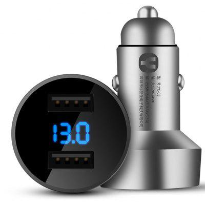 YoPin YC - 03 Universal Car Charger with LED Digital Display