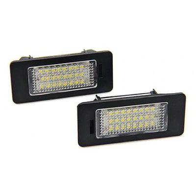 Autodragons 3528 Straight Pin LED License Plate Light 2PCS