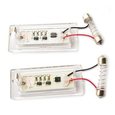 Autodragons 3528 Dual Points LED License Plate Light 2PCSCar Lights<br>Autodragons 3528 Dual Points LED License Plate Light 2PCS<br><br>Apply lamp position: External Lights<br>Apply To Car Brand: BMW<br>Brand: autodragons<br>Color temperatures: 6500K<br>Connector: Double pointed<br>Feature: Easy to use<br>LED Type: SMD-3528<br>LED/Bulb quantity: 18<br>Lumens: 126lm<br>Model: ADT - LPL 3528<br>Package Contents: 2 x Light<br>Package size (L x W x H): 11.00 x 6.60 x 4.60 cm / 4.33 x 2.6 x 1.81 inches<br>Package weight: 0.1400 kg<br>Power: 3W<br>Product size (L x W x H): 7.50 x 3.60 x 1.40 cm / 2.95 x 1.42 x 0.55 inches<br>Product weight: 0.0800 kg<br>Type: License Plate Lights<br>Type of lamp-house: LED<br>Voltage: 12V