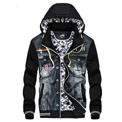 JOOBOX Casual Hooded Coat with Headsets for Men