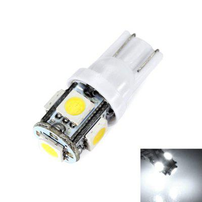 T10 Durable Car Turn Signal / License Plate Lamp 10PCSCar Lights<br>T10 Durable Car Turn Signal / License Plate Lamp 10PCS<br><br>Apply To Car Brand: Universal<br>Color temperatures: 6000K<br>Connector: T10<br>Emitting color: White<br>Features: Low Power Consumption, Easy to use<br>LED Quantity: 5<br>LED Type: SMD 5050<br>Lumen: 45lm<br>Package Contents: 10 x Car LED Light<br>Package size (L x W x H): 10.00 x 5.00 x 5.00 cm / 3.94 x 1.97 x 1.97 inches<br>Package weight: 0.1800 kg<br>Power: 2.5W<br>Product size (L x W x H): 2.80 x 1.00 x 1.00 cm / 1.1 x 0.39 x 0.39 inches<br>Product weight: 0.0150 kg<br>Type: License Plate Light, Turn Signal Light<br>Type of lamp-house: LED<br>Voltage: 12V
