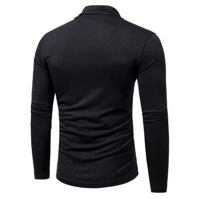 WSGYJ Men\s Pure Color Long Sleeve T-shirtMens Long Sleeves Tees<br>WSGYJ Men\s Pure Color Long Sleeve T-shirt<br><br>Neckline: Turn-down Collar<br>Package Content: 1 x T-shirt<br>Package size: 40.00 x 30.00 x 4.00 cm / 15.75 x 11.81 x 1.57 inches<br>Package weight: 0.3200 kg<br>Product weight: 0.3000 kg<br>Season: Autumn, Winter<br>Sleeve Length: Long Sleeves