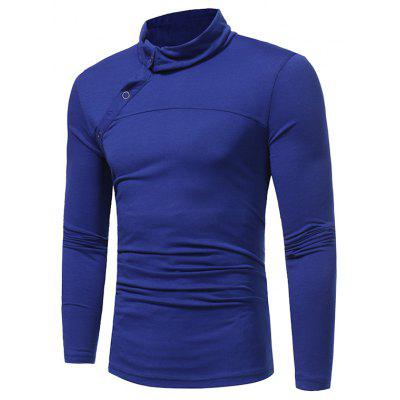 WSGYJ Men\'s Pure Color Long Sleeve T-shirt
