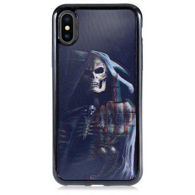 3D Personality Skull TPU Cover Phone Case for iPhone X