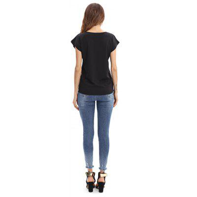 Women Cap Sleeves Body Print Slim T-ShirtTees<br>Women Cap Sleeves Body Print Slim T-Shirt<br><br>Clothing Length: Regular<br>Collar: Round Neck<br>Material: Polyester<br>Package Contents: 1 x T-Shirt<br>Package size: 35.00 x 30.00 x 2.00 cm / 13.78 x 11.81 x 0.79 inches<br>Package weight: 0.4200 kg<br>Pattern Type: Print<br>Product weight: 0.4000 kg<br>Season: Spring, Fall, Summer<br>Sleeve Length: Short Sleeves<br>Sleeve Type: Cap Sleeve<br>Style: Casual, Fashion