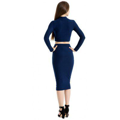 High Collar Long-sleeved Two-piece Fitted DressBodycon Dresses<br>High Collar Long-sleeved Two-piece Fitted Dress<br><br>Dresses Length: Knee-Length<br>Elasticity: Elastic<br>Material: Cotton, Wool<br>Neckline: High Neck<br>Package Contents: 1 x Dress<br>Package size: 20.00 x 10.00 x 1.00 cm / 7.87 x 3.94 x 0.39 inches<br>Package weight: 0.2300 kg<br>Pattern Type: Solid Color<br>Product weight: 0.2200 kg<br>Season: Spring, Fall, Winter<br>Silhouette: Bodycon<br>Sleeve Length: Long Sleeves<br>Style: Fashion<br>With Belt: No