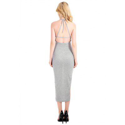 Sexy Backless Lace-up Halter Bodycon DressBodycon Dresses<br>Sexy Backless Lace-up Halter Bodycon Dress<br><br>Dresses Length: Mid-Calf<br>Elasticity: Elastic<br>Material: Cotton, Wool<br>Neckline: Square Collar<br>Package Contents: 1 x Dress<br>Package size: 20.00 x 10.00 x 1.00 cm / 7.87 x 3.94 x 0.39 inches<br>Package weight: 0.2100 kg<br>Pattern Type: Solid Color<br>Product weight: 0.2000 kg<br>Season: Summer<br>Silhouette: Bodycon<br>Sleeve Length: Sleeveless<br>Sleeve Type: Cold Shoulder<br>Style: Fashion<br>With Belt: No