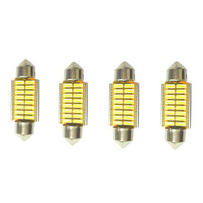 36MM Car Interior Reading / License Plate / Door Light 4pcs
