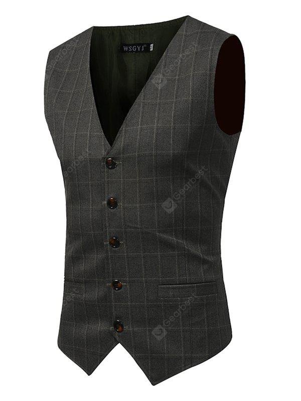 Slim Fit Checked Vest
