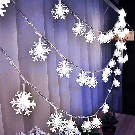Fashion Snowflake Strip Lights Home Decoration WHITE