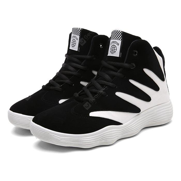 Male Trendy Soft Thick Spiral Soled Ankle Top Sneakers