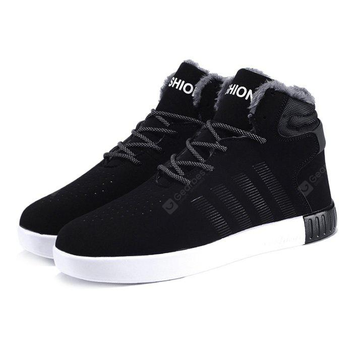 Male Fresh Breathable Soft Plush Ankle Top Casual Sneakers