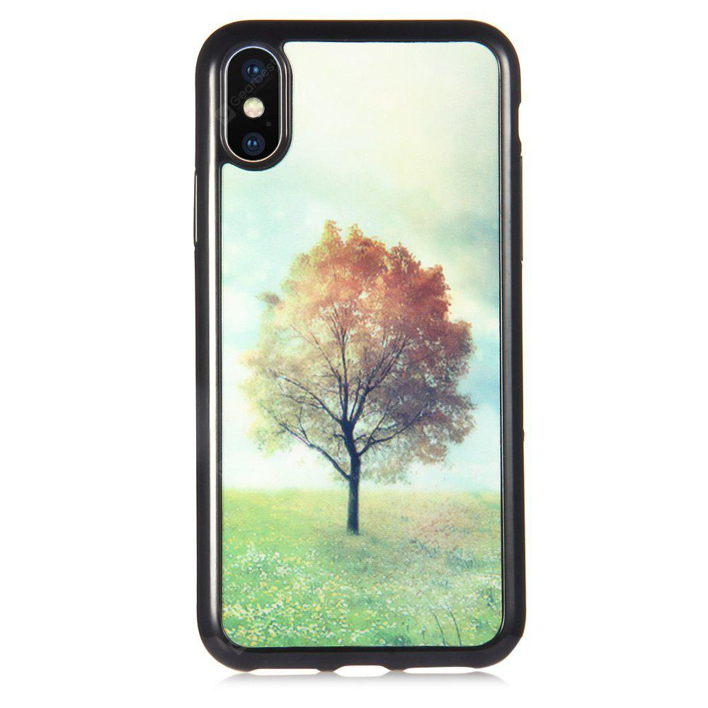 3D Personality Green Tree Phone Case for iPhone X TPU Cover