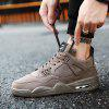 Male Ultralight Soft Heighten Air Cushion Casual Athletic Shoes - DEEP BROWN