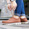 Buy Male Nostalgic Soft Stitching Plus Size Casual Leather Shoes 41 LIGHT BROWN
