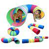 Children Early Learning Kids Tunnel Tent 1PC - COLORMIX