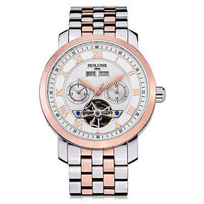 HOLUNS 4612 Business Steel Band Mechanical Male Watch