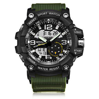 Gearbest Sanda 740 5321 Luminous Double Movement Men Watch  -  ARMY GREEN